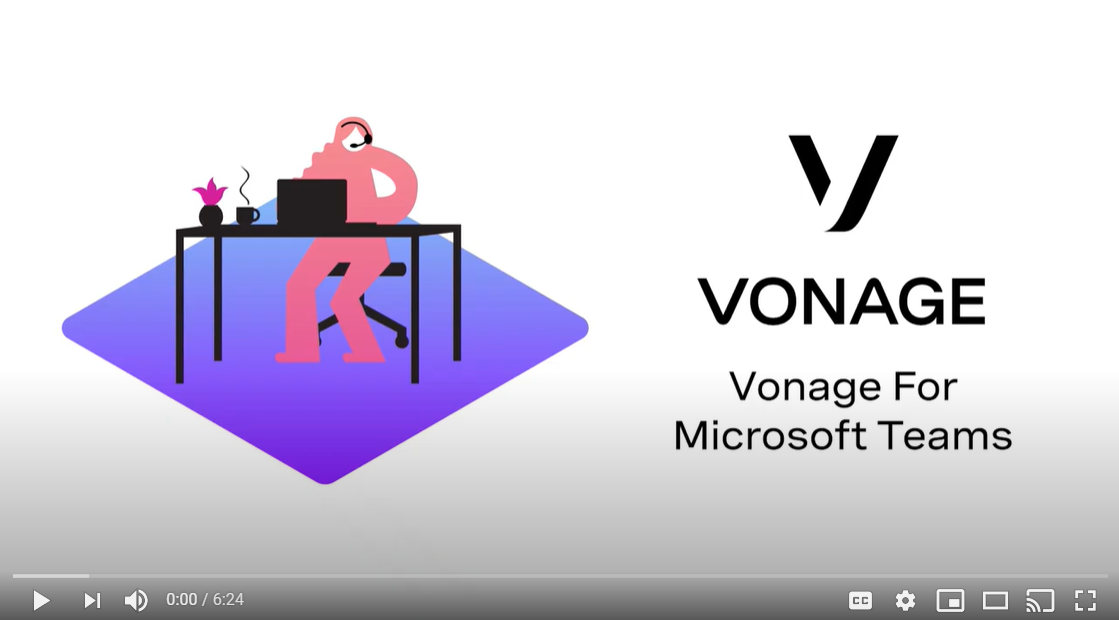 Vonage for Microsoft Teams Video Cover Slide