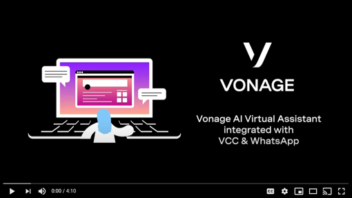 cover slide for Vonage AI Virtual Assistant demo video